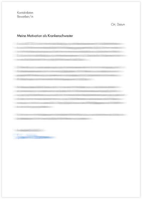Unterschied Zwischen Bewerbungsschreiben Und Motivationsschreiben motivationsschreiben krankenpflegeschule bewerbung