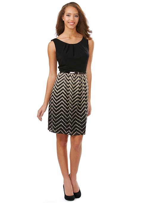 belted ombre chevron dress dressy cato fashions