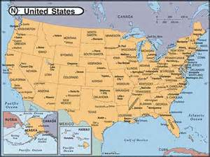 united states of america map with states and capitals maps of united states of america