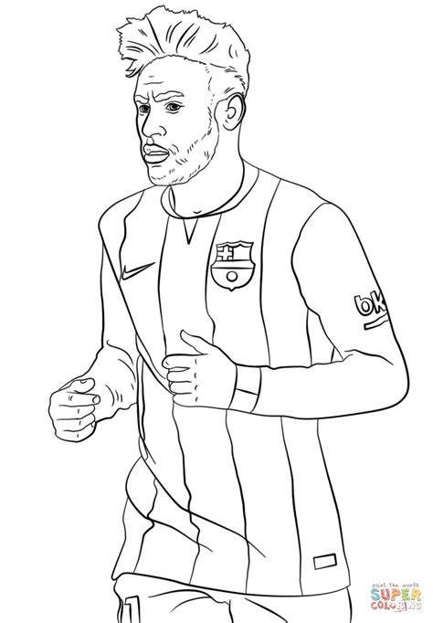 neymar coloring page free printable coloring pages