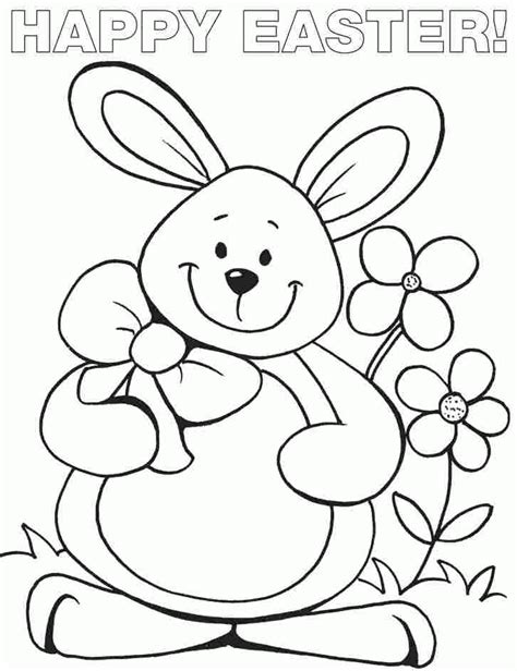 easter bunny coloring pages pdf easter bunny coloring sheets free for toddler 16958 az