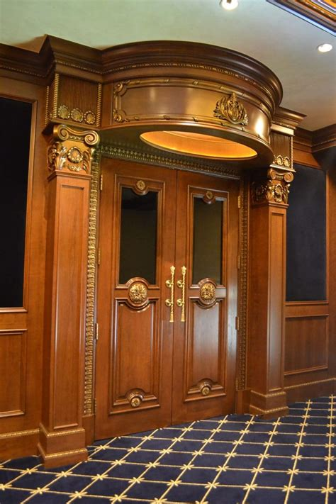 padded cinema doors theater entrances ticket booths