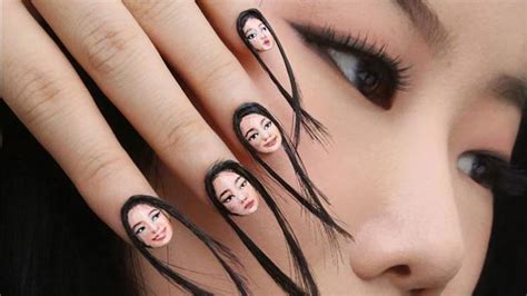 hair vegine pic this nail art trend is inspired by the selfie and it even