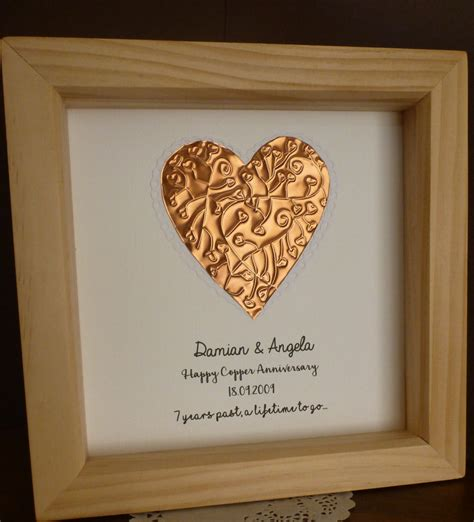 7th wedding anniversary ideas 7th wedding anniversary gift copper anniversary gift 7th