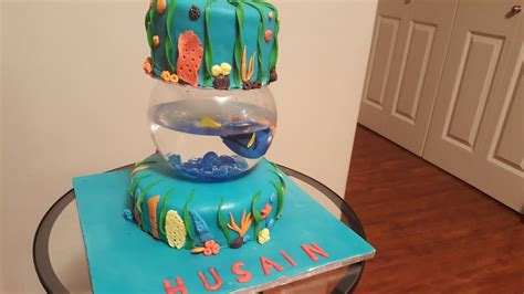 finding dory nemo cake with fish tank tutorial