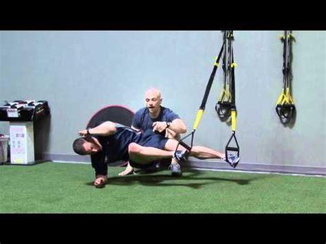 trx side plank  knee tuck youtube