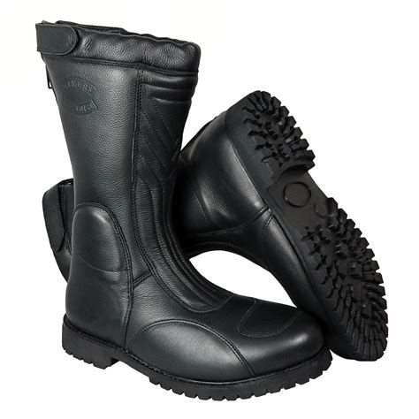 Women's Viking Warrior Leather Bike Boots