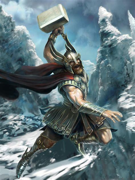 ancient god thor thor norse god wallpaper