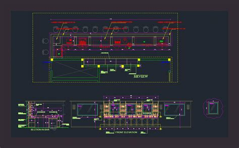 beach bar dwg section  autocad designs cad