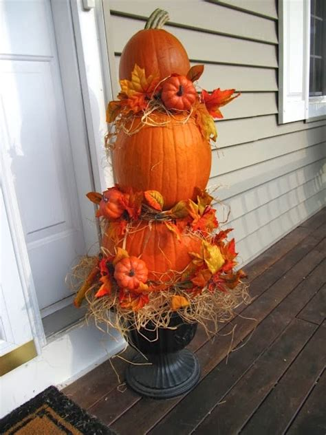 Pumpkin Tower Decoration by Sew Many Ways Happy Pumpkin Tower Tutorial