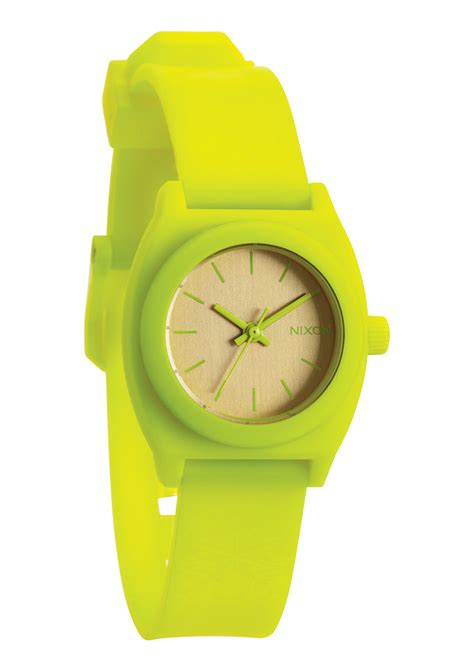 Nixon Small Time Teller nixon small time teller p watchneon yellow beetlepoint