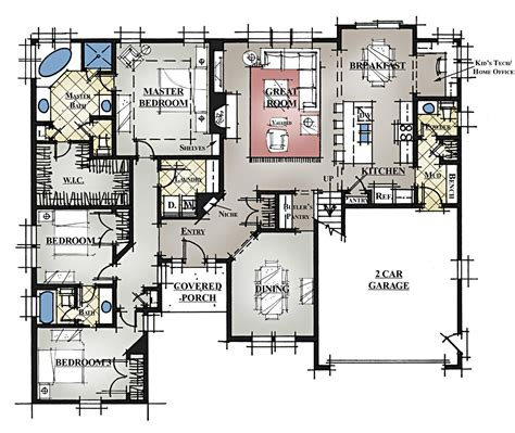 Floor Plans With Bonus Room | 5 bedroom house plans with bonus room ehouse plan 7
