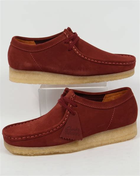 wallabee shoes clarks originals wallabee shoes in suede terracotta mens