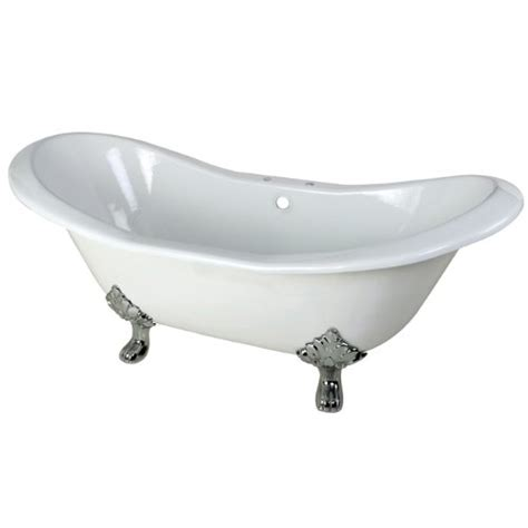 cast iron bathtub value aqua eden cast iron polished chrome claw foot double