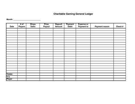 ledger template printable 5 best images of free printable ledger balance sheet
