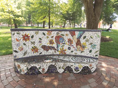 mosaic benches the queen city