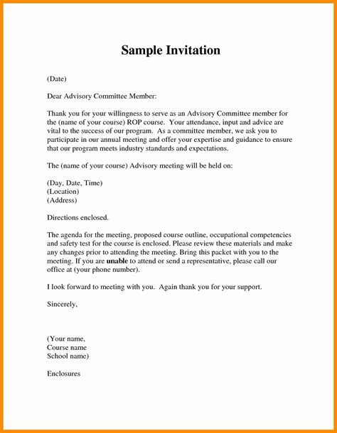 Board Member Invitation Letter Template Exles Letter Template Collection Meeting Follow Up Email Template