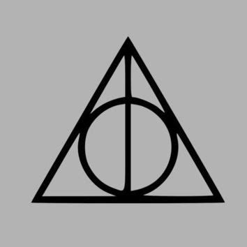 harry potter deathly hallows symbol vinyl from initialyou