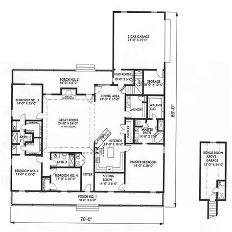 large one story house plan big kitchen with walk in big country 5746 4 bedrooms and 3 5 baths the house