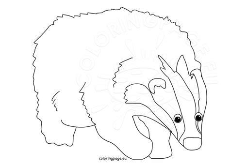 cartoon animal badger coloring page
