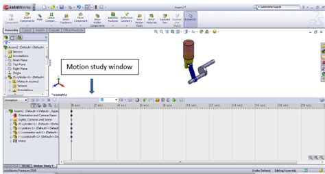 tutorial solidworks motion solidworks tutorial motion study 1