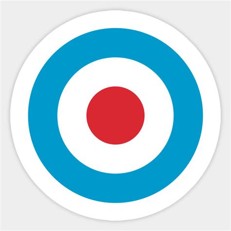 Bullseye Stickers simple target bullseye sticker teepublic