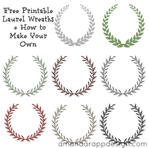 laurel leaf crown template free printable laurel wreaths how to make your own