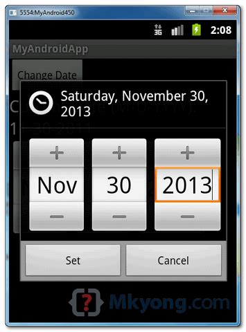 android datepicker android date picker exle javatyro