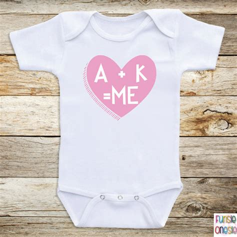 personalized baby bodysuits a k me short by newbornbabyclothes