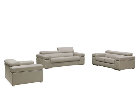 light grey leather sofa divani casa atlantis modern light grey bonded leather sofa set