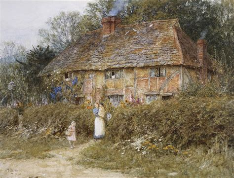 Country Homes And Interiors Blog an old surrey cottage painting by helen allingham
