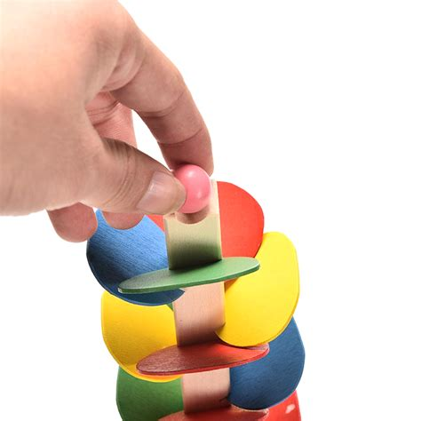 Mainan Edukasi Multipurpose Intelligent House tree marble run track wooden