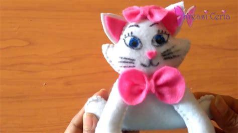 Boneka Kucing Dari Kain cara membuat boneka kucing angela dari kain flanel