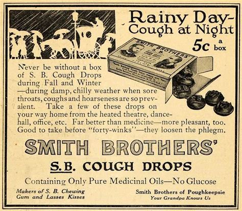 Smith Brothers by Ad For Smth Brothers Cough Drops A Hundred Years Ago