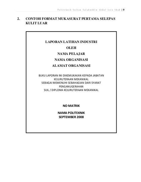 format buku log pengakap contoh buku laporan latihan industri contoh nda