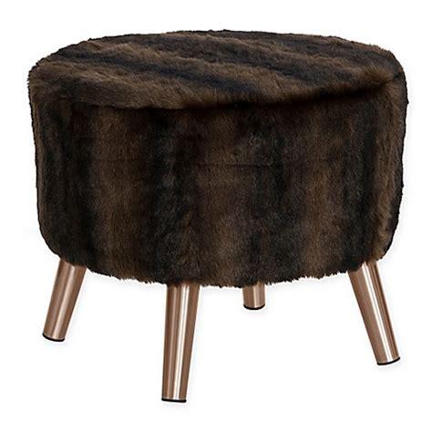 fur ottoman buy skyline furniture brooker faux fur round ottoman in