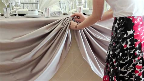 tablecloth draping d i y head table scallop youtube
