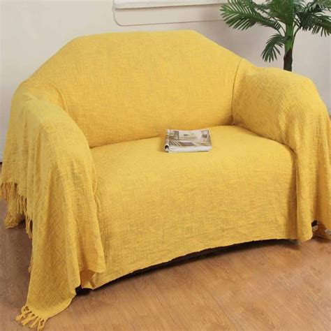 Large Throws To Cover Sofas by Ochre Yellow Cotton Nirvana Large Throws For Sofas