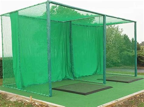 golf net for backyard double bay outdoor golf enclosure range solutions