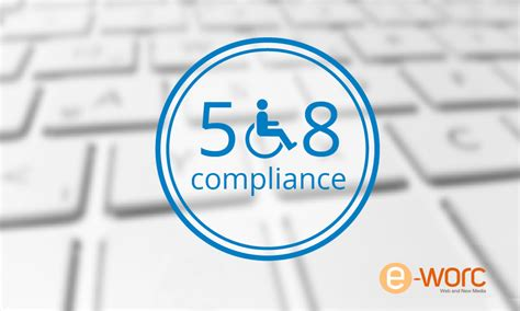 ada section 508 compliance e worc web and new media web design and digital media
