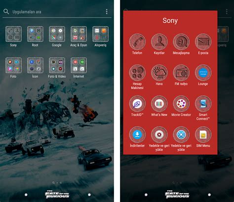 themes download sony download sony xperia the fate of the furious theme