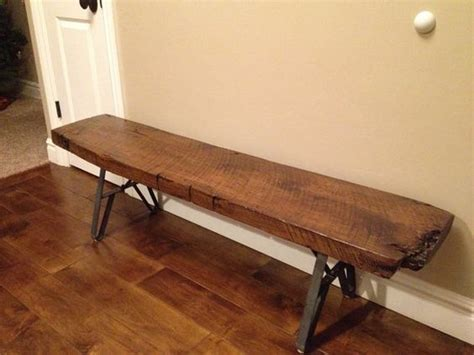 wood bench with metal legs wood slab or beam metal legs bench coffee table twinleg design 7 inch long top