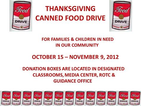 canned food drive flyer template www imgkid the