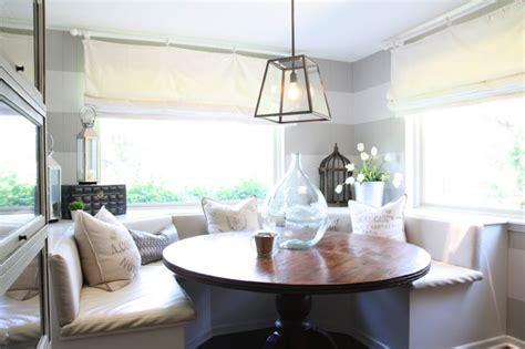 built  banquette cottage dining room   beck design