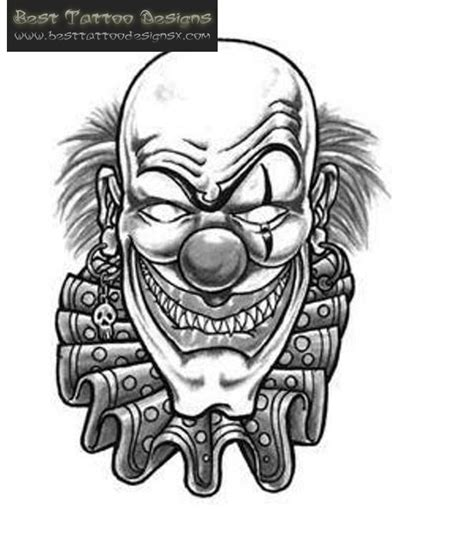clown face tattoo designs 16 best clown ideas designs and pictures