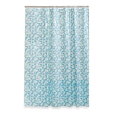 72 x 96 shower curtain buy stained glass 72 inch x 96 inch shower curtain in blue