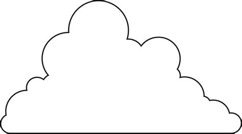 cloudtemplateprintable  images cloud stencil