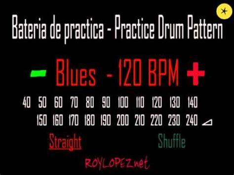 drum pattern blues bateria de practica practice drum pattern blues