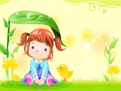 cute quirky wallpaper for kids cute cartoon baby girl desktop background backgrounds