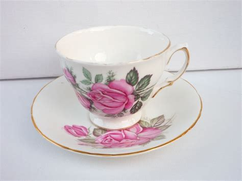 Cup And Saucer Shabby vintage china tea cup saucer roses design shabby